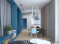 Идеи: интерьер с красными и синими акцентами