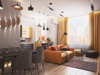 Идеи: 25 великолепных желтых акцентов в гостиных