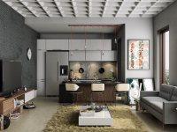 Идеи: 23 дизайн-проекта кухонь совмещенных с гостиными