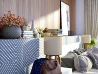 Идеи: 11 вариантов спален с деревянными акцентами на стенах