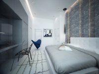 Дизайн: квартира с видом на Гудзон, Нью-Джерси