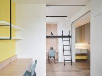 Дизайн: бело-желтый интерьер в маленькой квартире