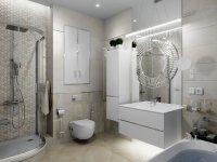 Дизайн-проект: ванные комнаты, Пионерская 2
