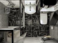 Дизайн-проект: Ванная на Театральной