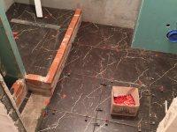 Фото до и во время ремонта: Ванная на Театральной