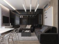 Идеи: гостиная в темных тонах